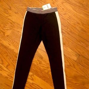 NWT Black and Pink Workout Leggings Size XS